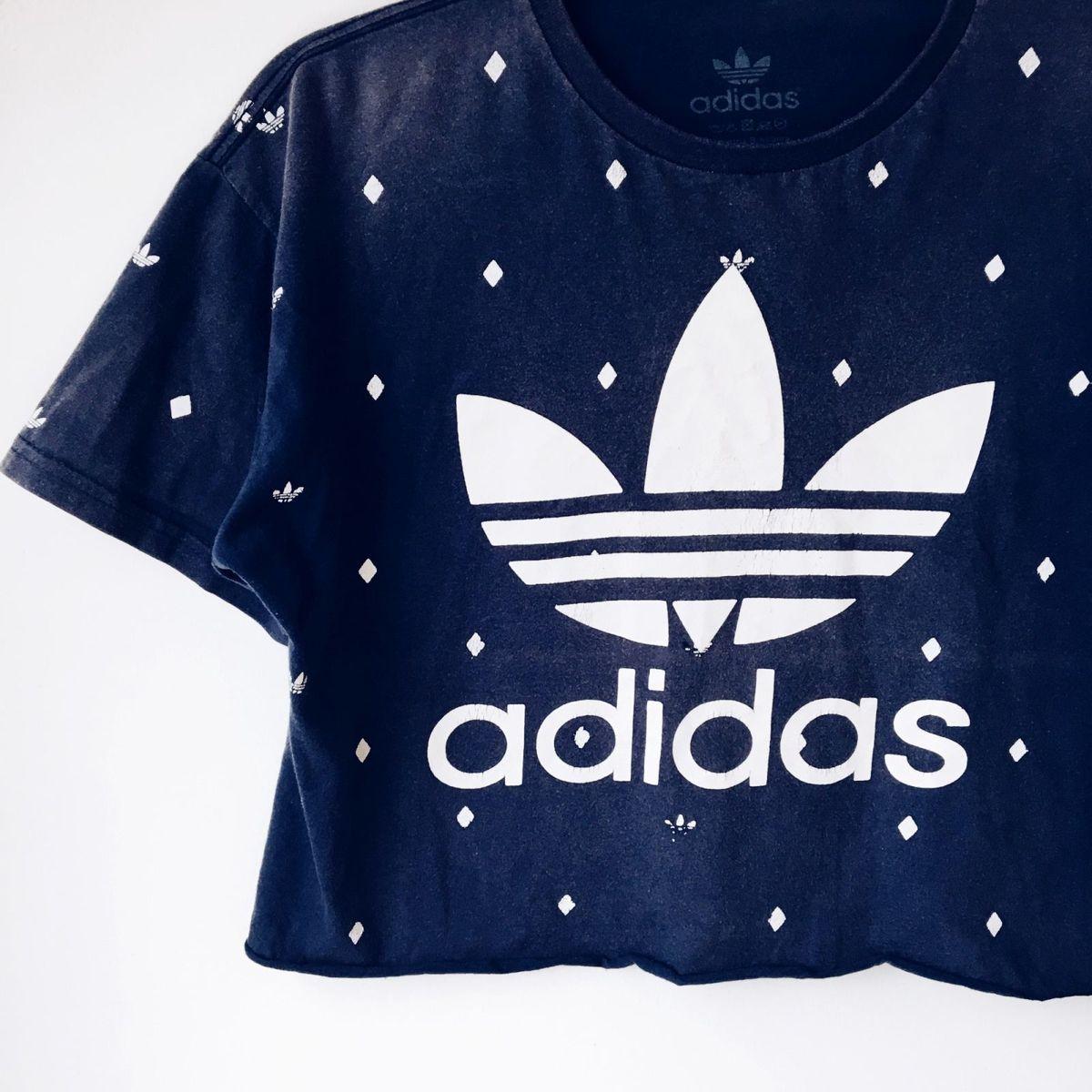 e22bcc7a720 Blusa Cropped Adidas Original Vintage