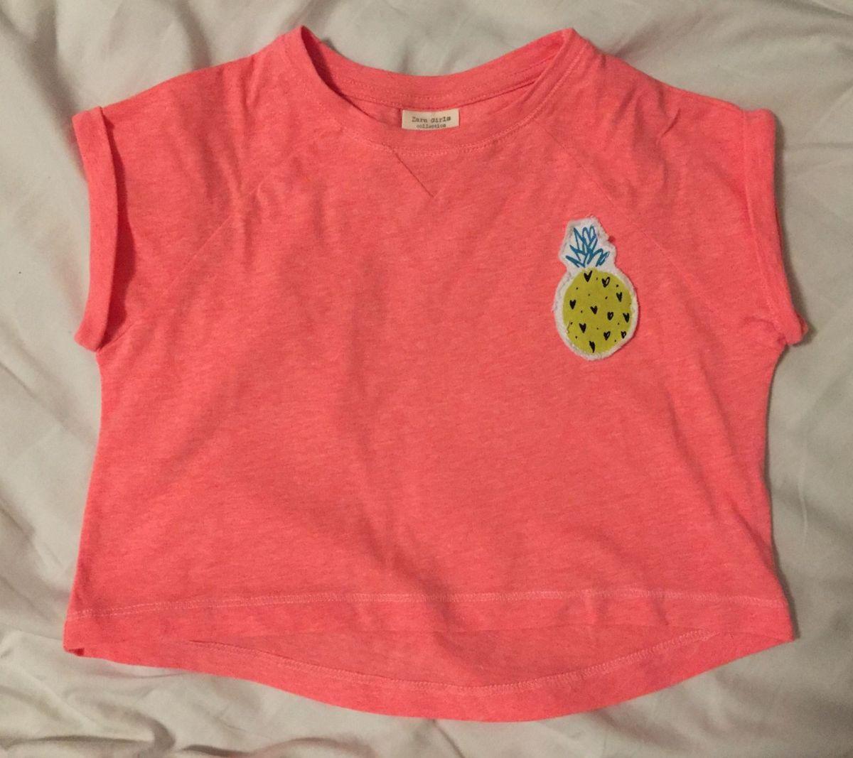 c109a579ff68 Blusa Cropped Infantil Rosa-neon Zara Tam 4 | Roupa Infantil para ...