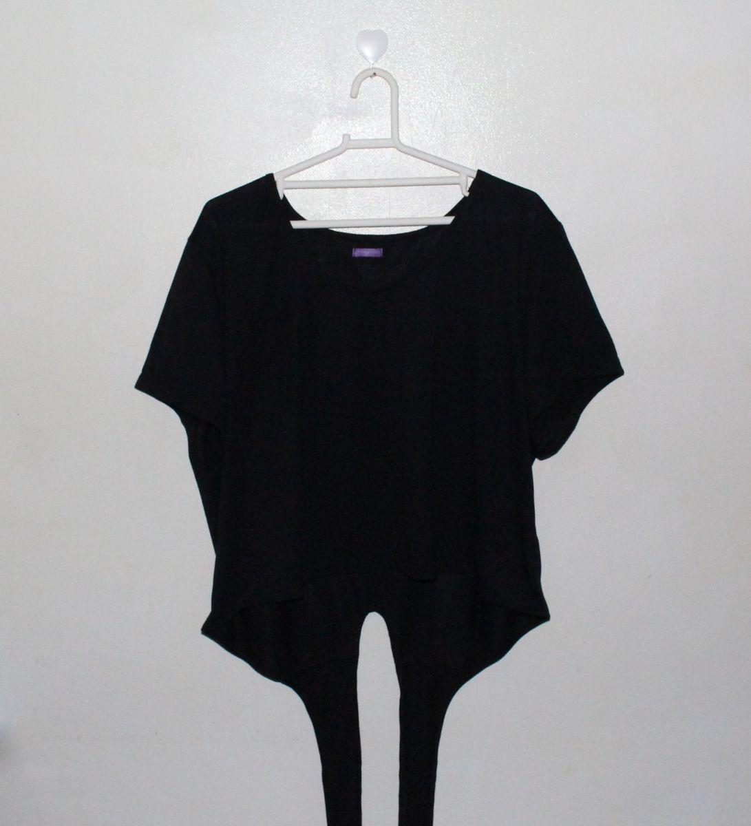 25f5ac4f9 Blusa Cropped Plus Size com Amarração Nas Costas | Blusa Feminina ...