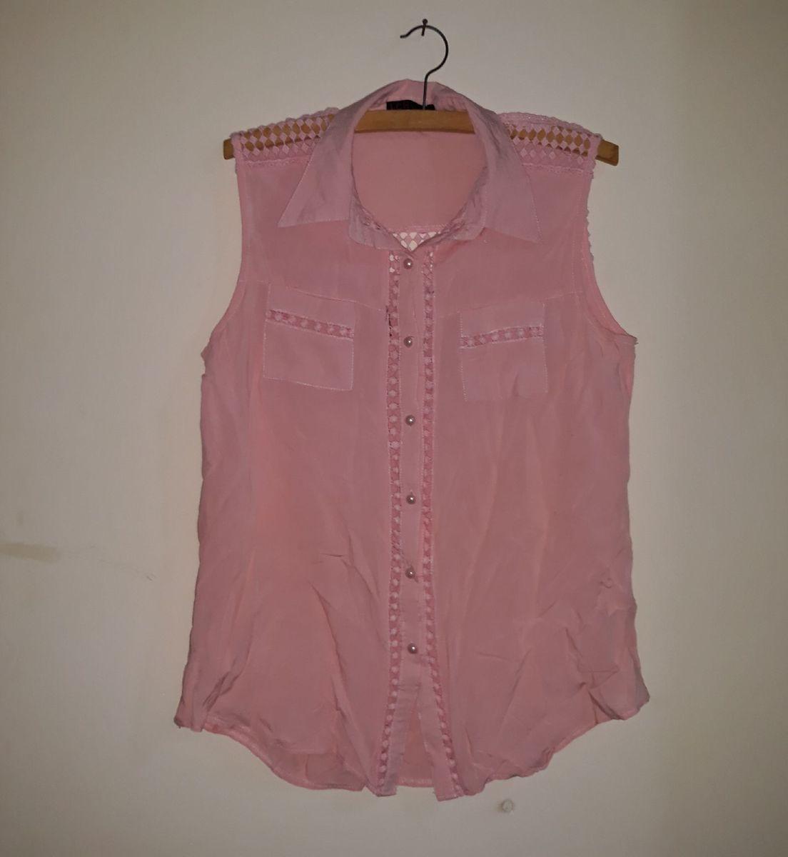 blusa de botões - blusas sem marca