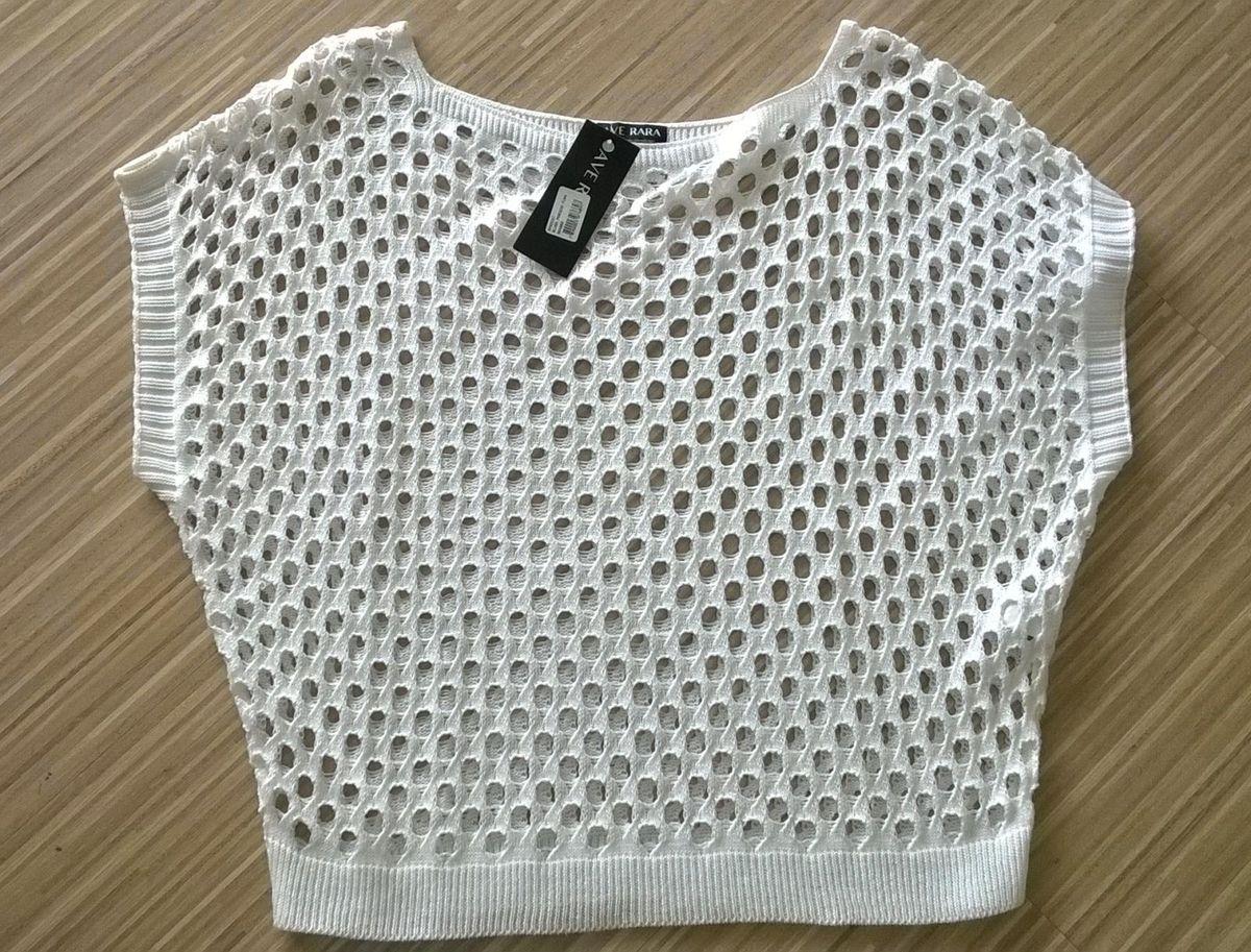 1d3c6749b Blusa de Crochet Nova. com Etiqueta da Loja! | Blusa Feminina Ave ...