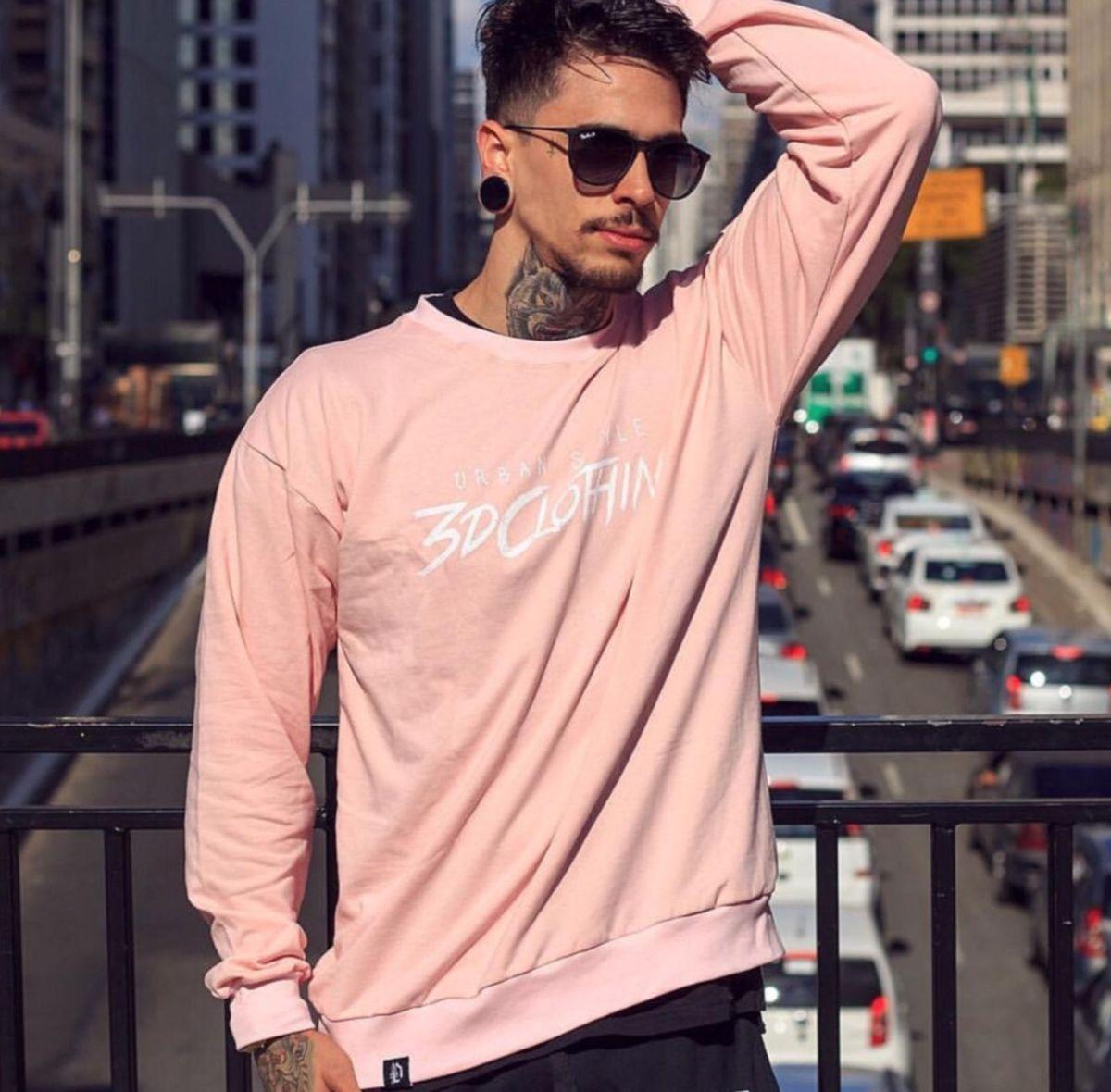 blusa de frio casaco moletom rosa swag street 3d original unissex - casacos  3d clothing a7a986dc3f1