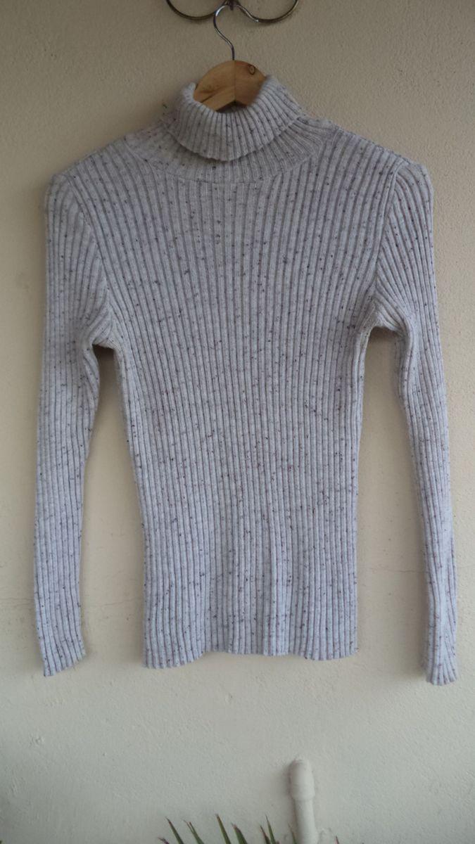 blusa de linha cinza mesclado canelada t.p - blusas bazotti confecções