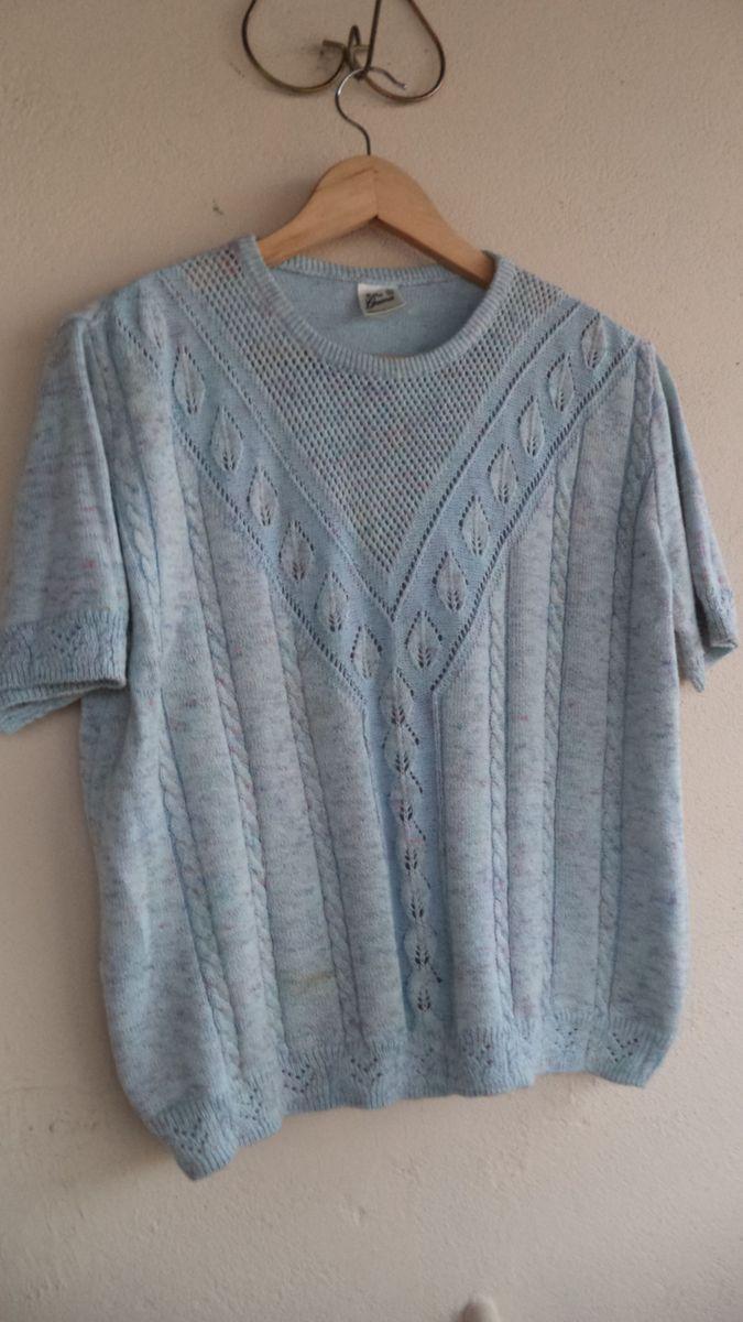 blusa de linha mesclada (caxias do sul/rs) t.m - blusas malhas guerra