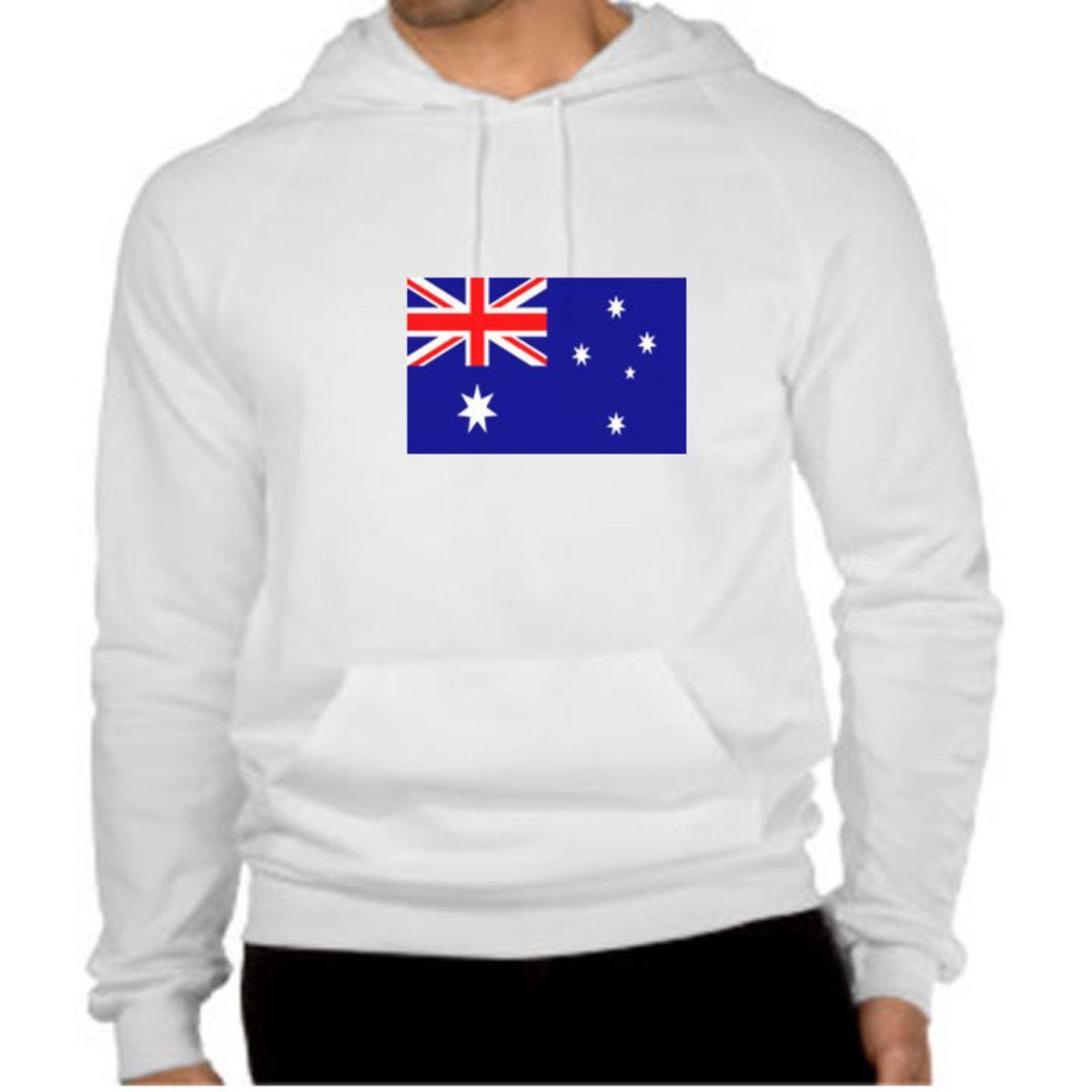 49d459053f blusa de moletom bandeira da australia - camisetas sem marca