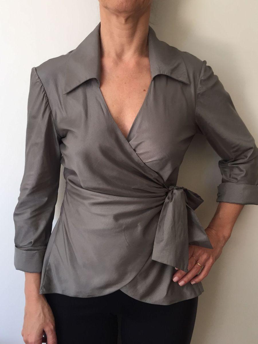 blusa de seda chique no último - blusas wez