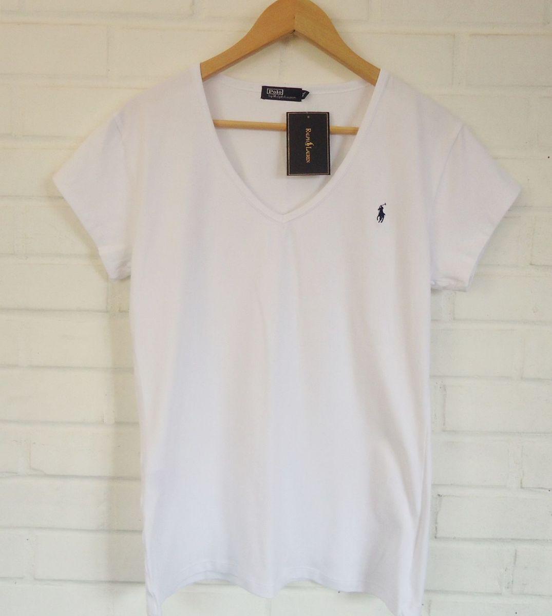 049b5bb97e blusa feminina decote gola v ralph lauren - camisas ralph lauren