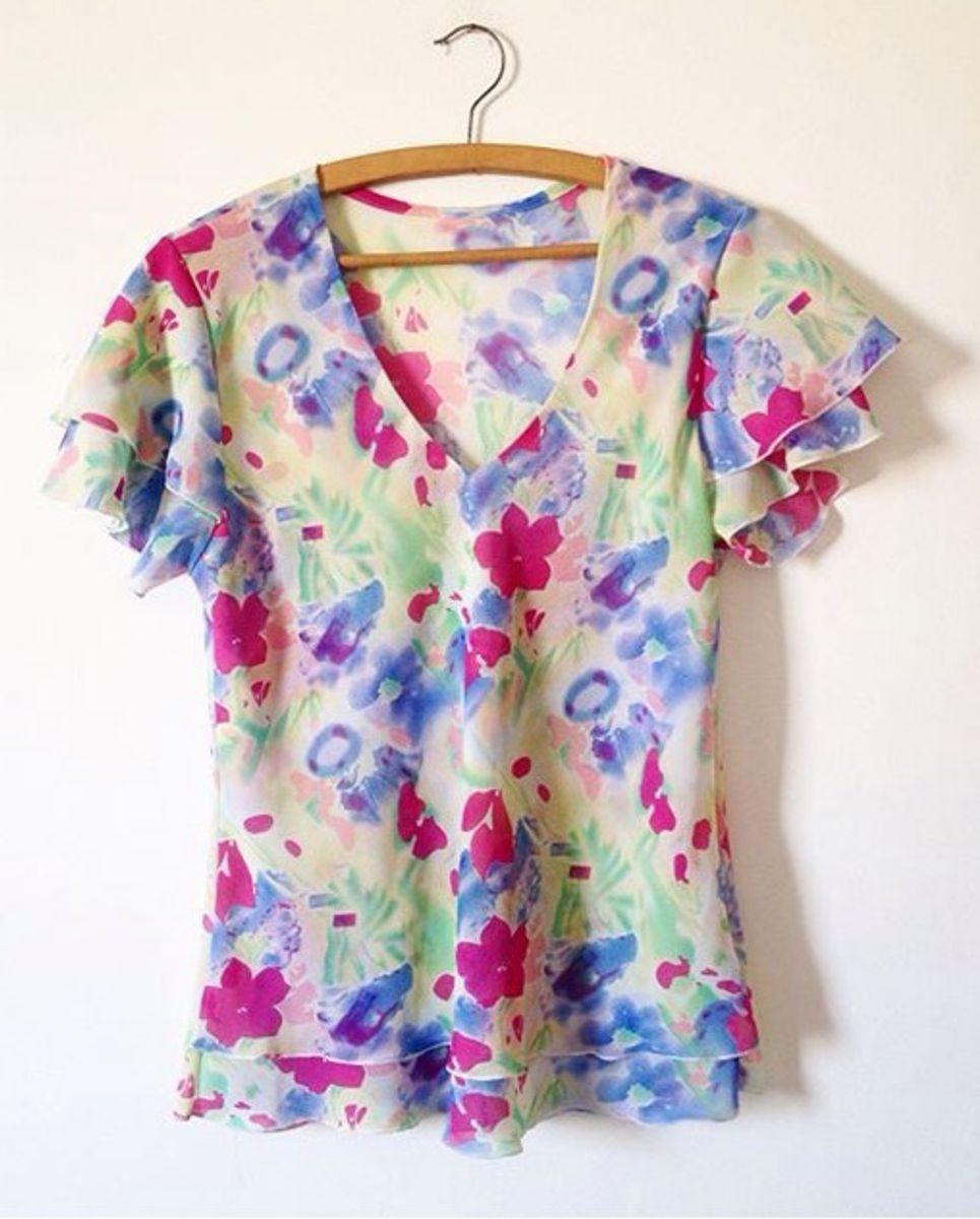 blusa floral - blusas sem marca