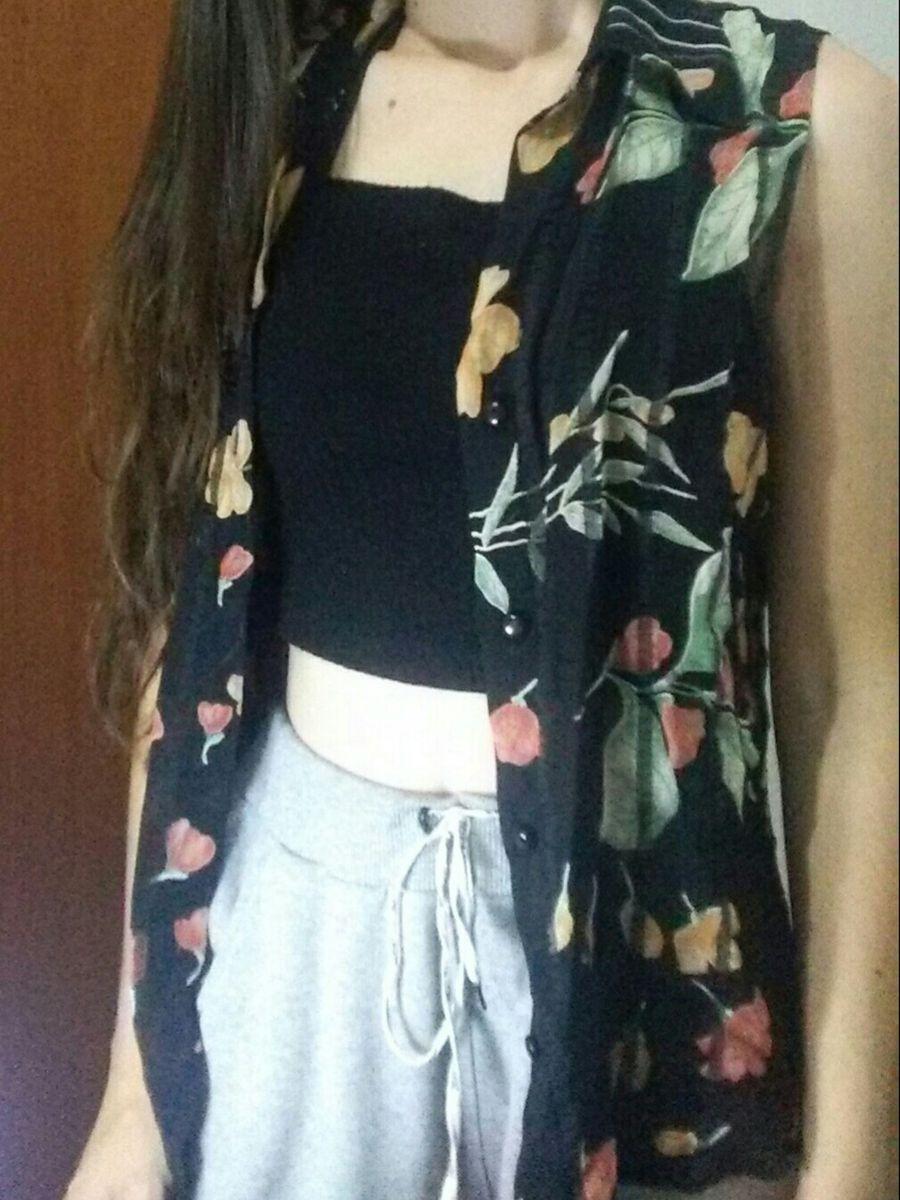 blusa florida - blusas sem-marca