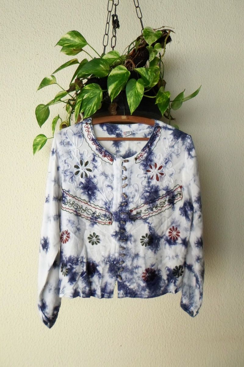blusa indiana bordada - blusas artesanal