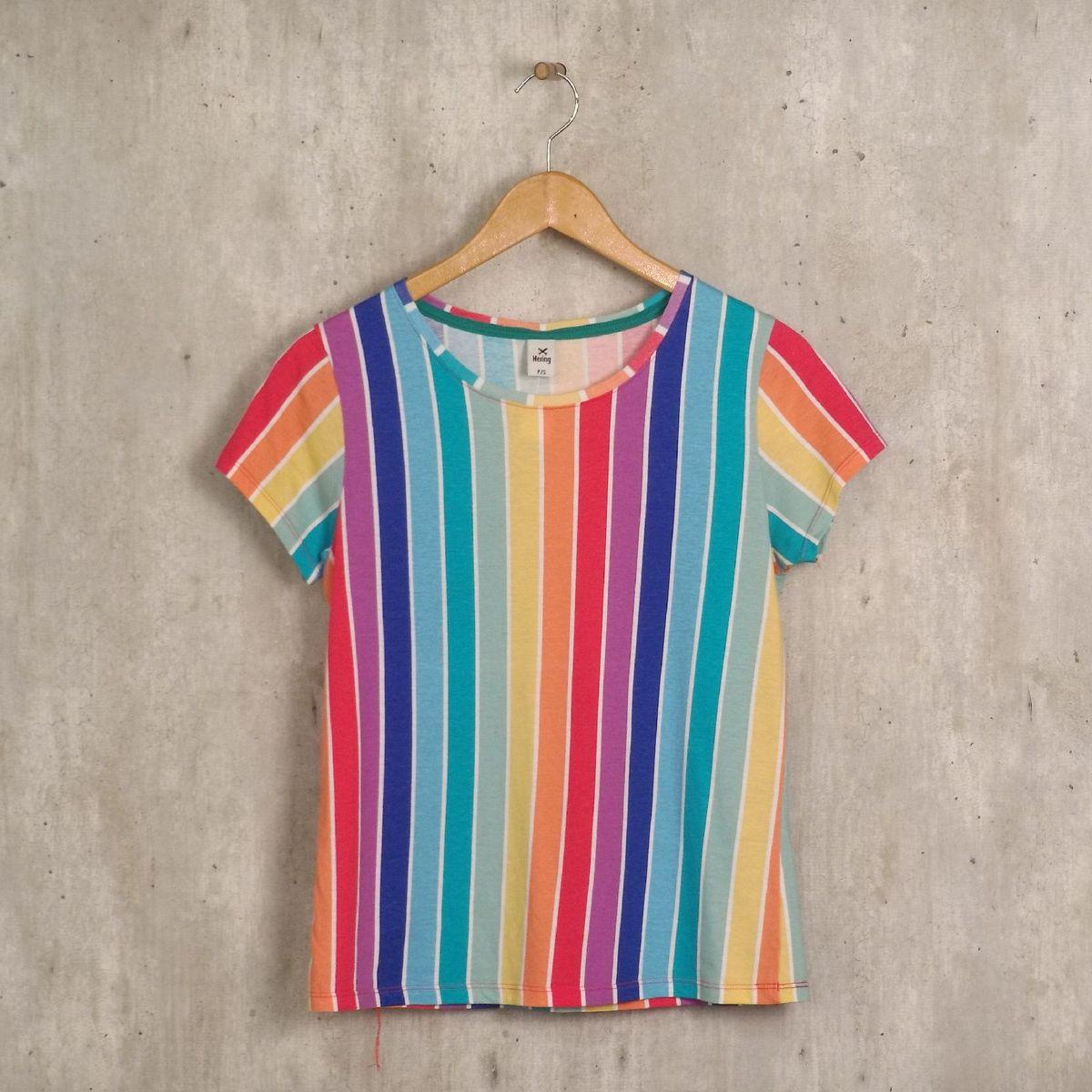 blusa listrada colorida - blusas hering