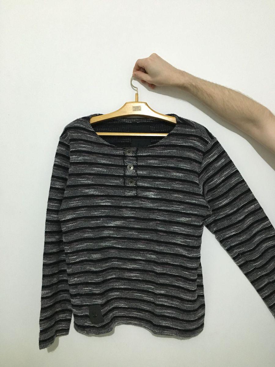 blusa manga longa listrada damyller - camisetas damyller 724a99fec6118