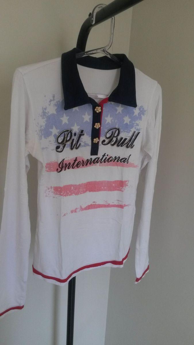 blusa manga longa - blusas pit bull jeans.  Czm6ly9wag90b3muzw5qb2vplmnvbs5ici9wcm9kdwn0cy84odu3nte0lzgxn2nlyzbhmtk4m2q2mjvlzddlnmfizdaxnthinzm0lmpwzw  ... db2e2ae6a53