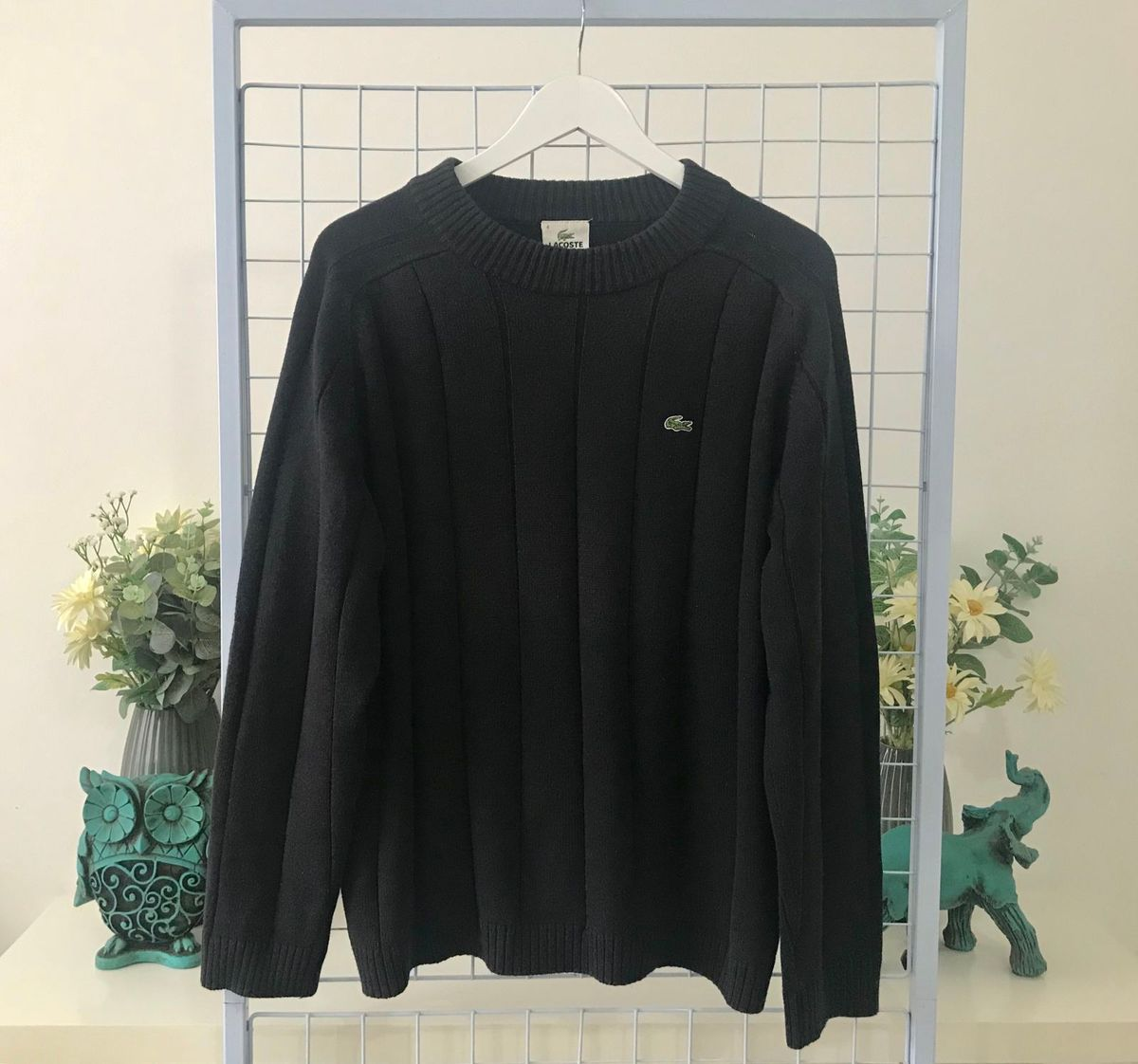 edd5aea45c54f blusa masculina frio lacoste cinza escuro - casacos lacoste