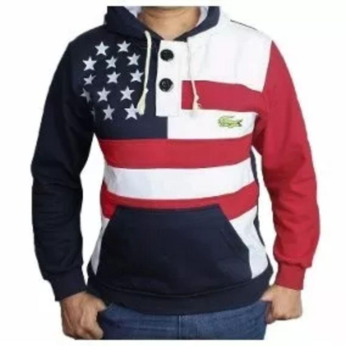 blusa moletom bandeira americana estados unidos tam p,m,g,gg - casacos 048835cf02