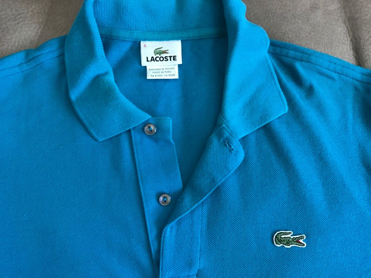 Blusa Polo Azul Lacoste   Camisa Masculina Lacoste Usado 24371109   enjoei 7c9d7fe6a9