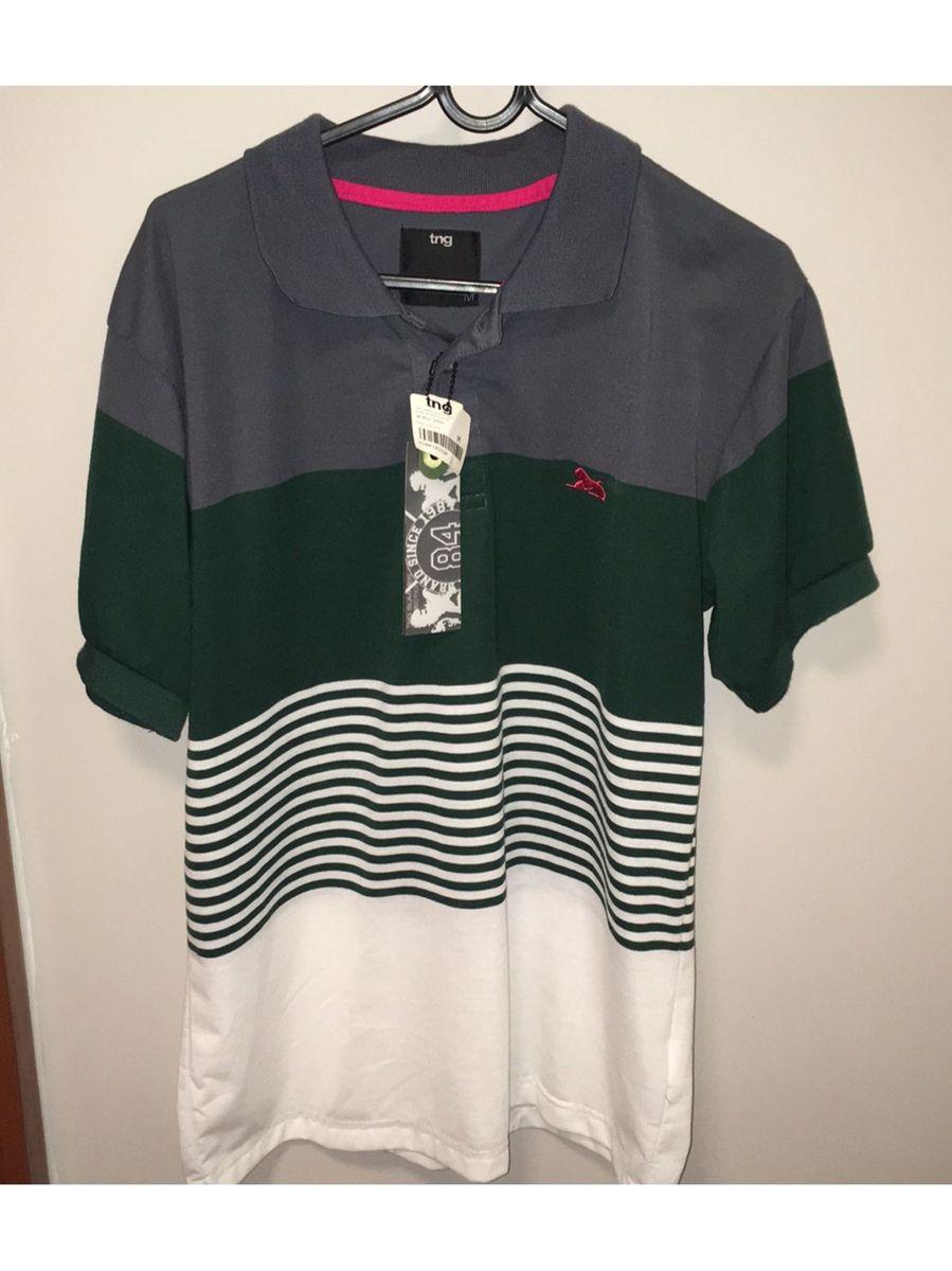 blusa polo malha tng tamanho m masculina - camisas tng fff99f2a8abbe