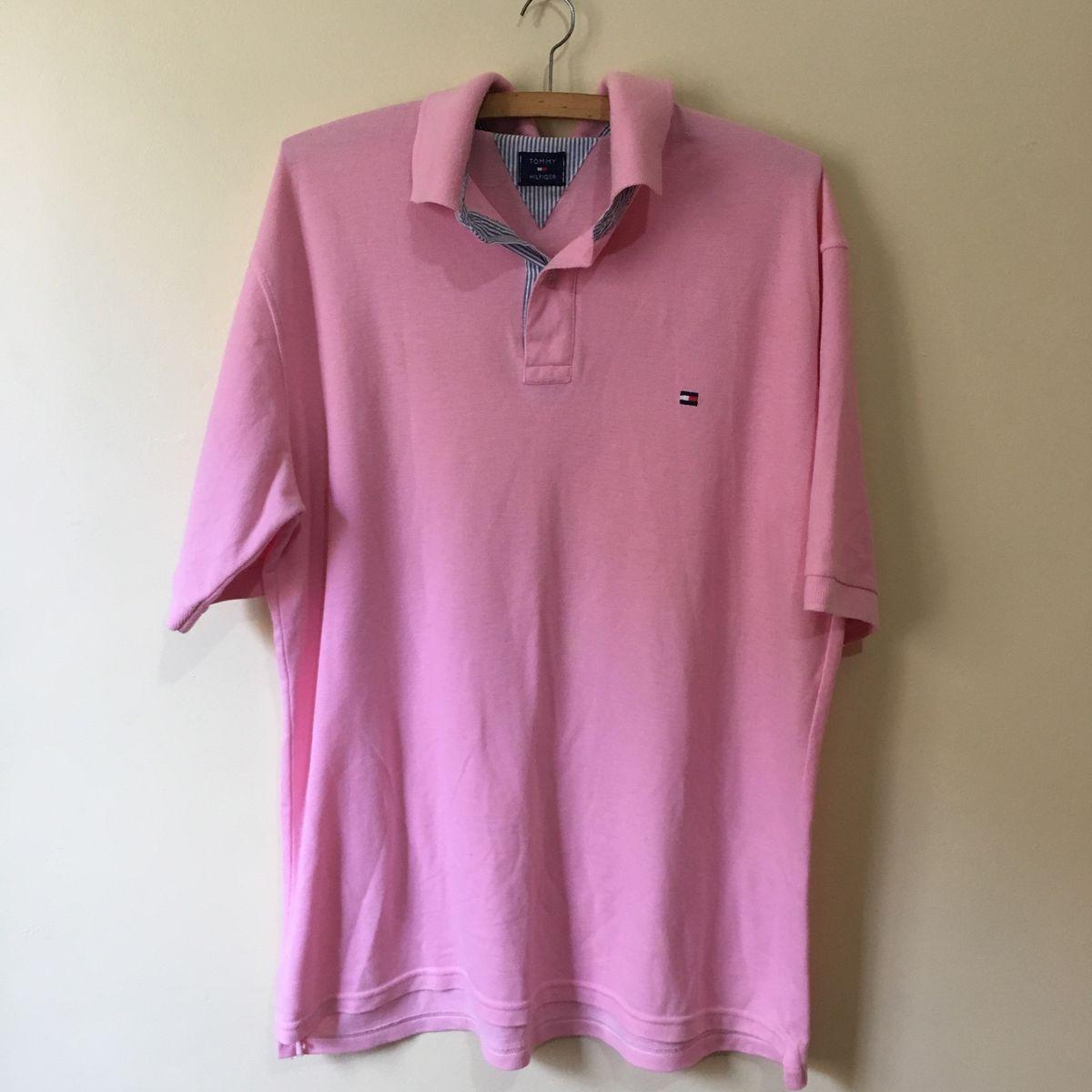 359a807ef9 Blusa Polo Rosa Claro