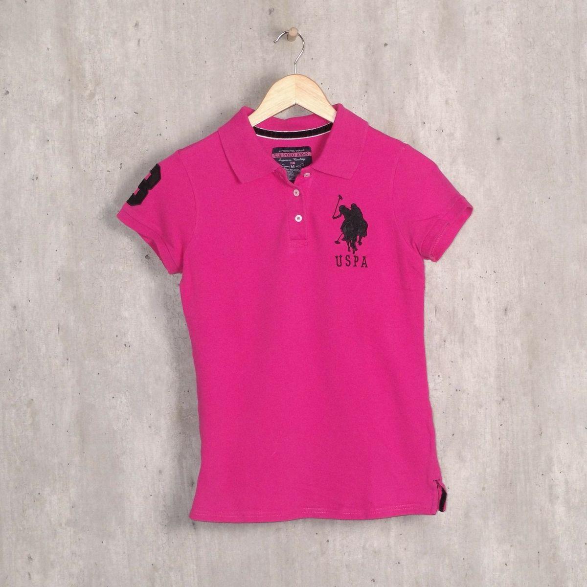 ef5fab9082f8c Blusa Polo Rosa