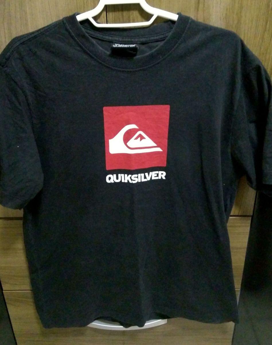 Blusa, Preta, Quicksilver. Tamanho  M   Camiseta Masculina ... ca667c0ce9