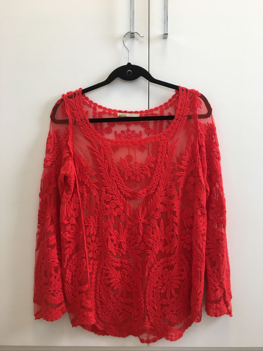 blusa renda vermelha - blusas arestta.  Czm6ly9wag90b3muzw5qb2vplmnvbs5ici9wcm9kdwn0cy85mzq3ntqwl2mwmjg2njyzodu4otk5mjrlzmmxyjqyyjexyty5nwe2lmpwzw  ... a4b2c3d172e