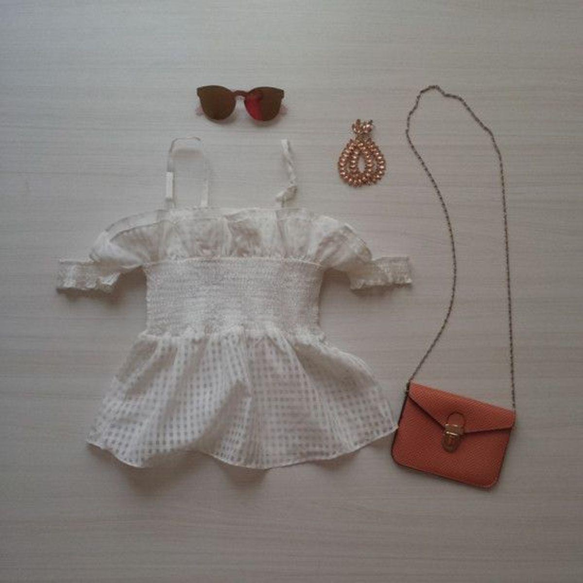 blusa romântica branca <3 - blusas mais-um