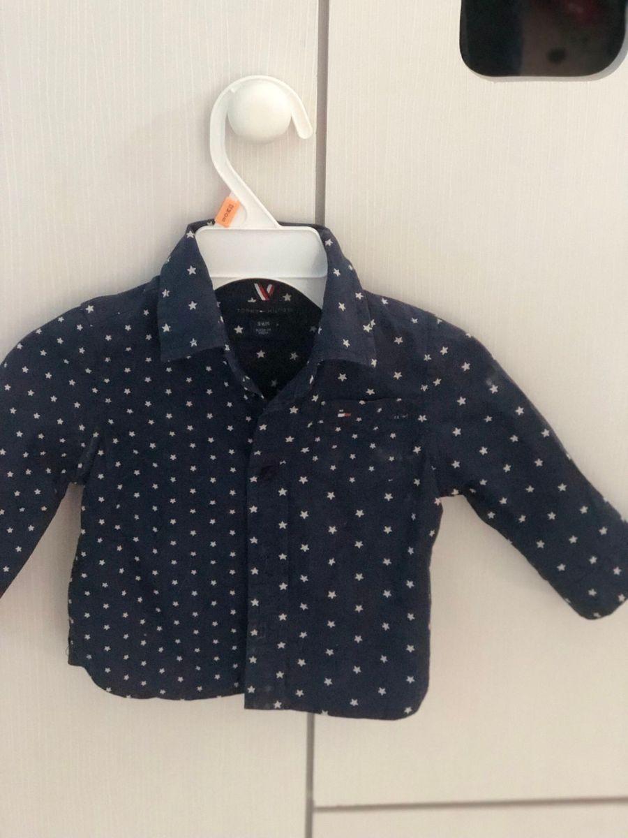 blusa social infantil original tommy hilfiger - bebê tommy hilfiger cdd6e8d2ff704