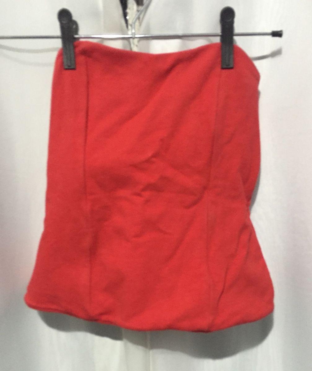 a7516dba8d blusa tomara que caia vermelha com ziper atras - blusas sem marca