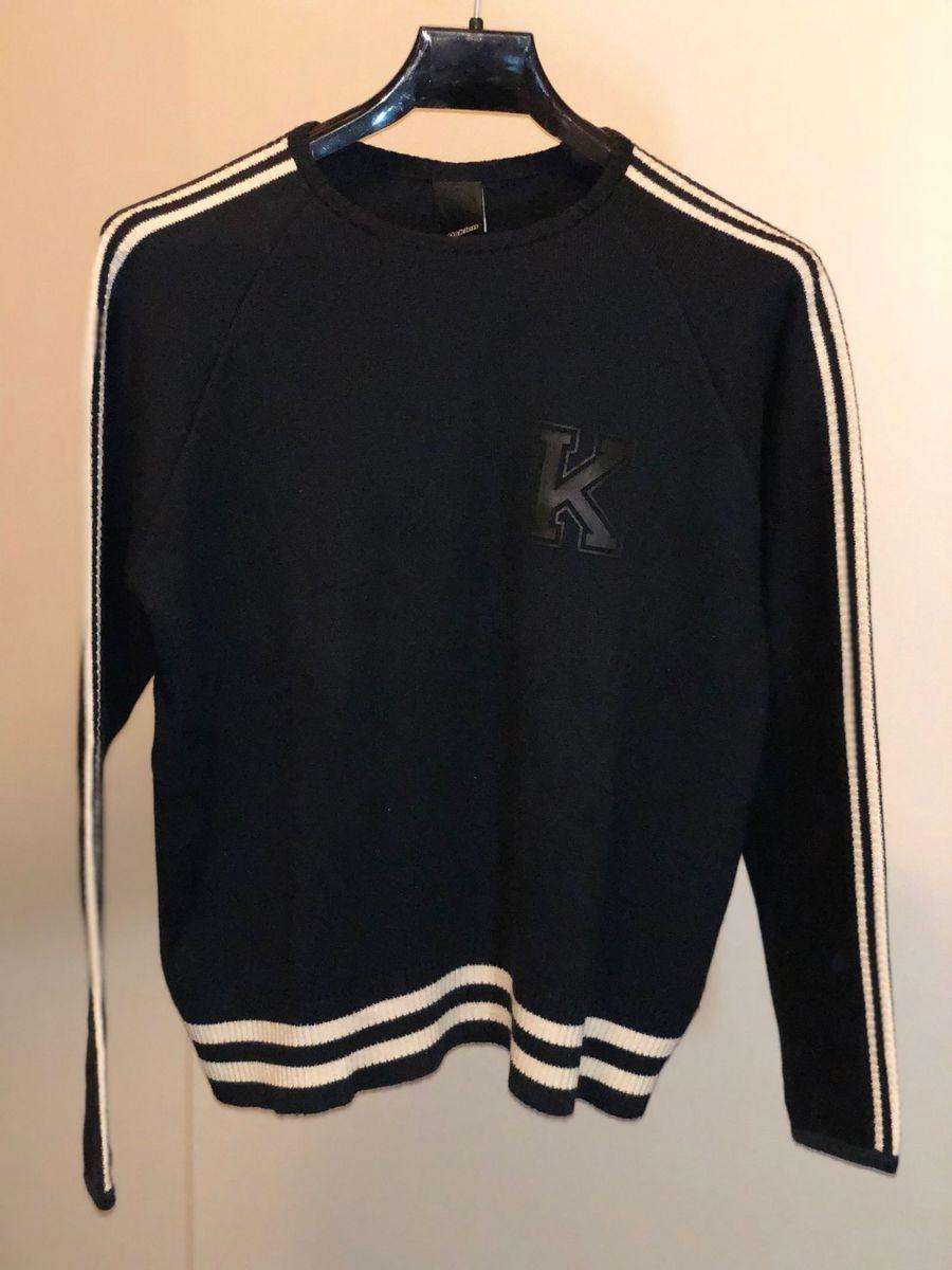 5b6ff21840 blusa tricot osklen preta tamanho m - casacos osklen