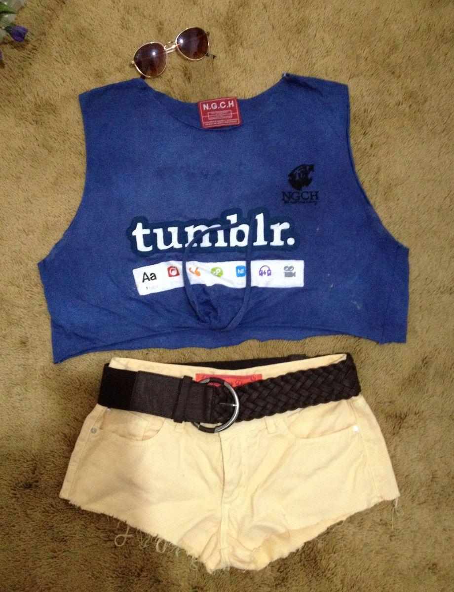 Tumblr uniform shorts