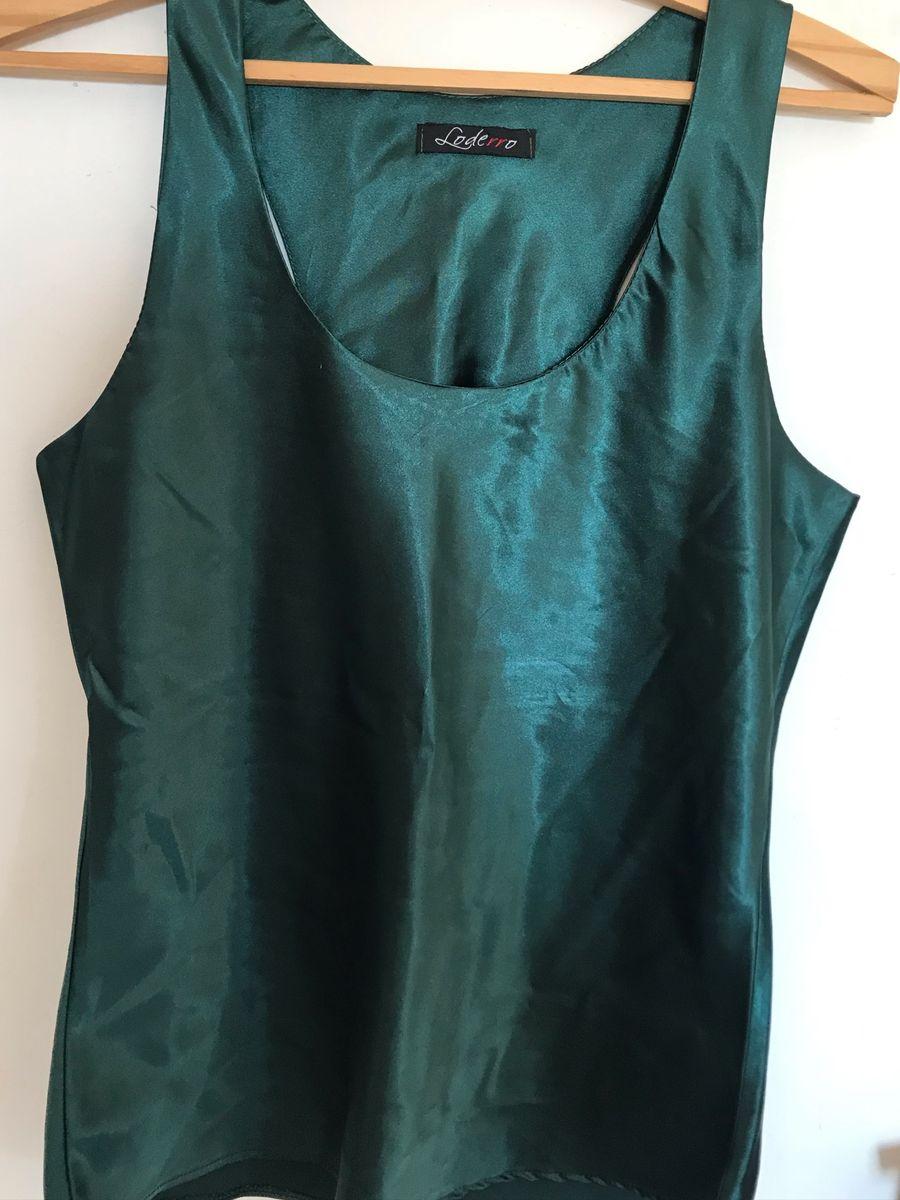 blusa verde - blusas sem marca
