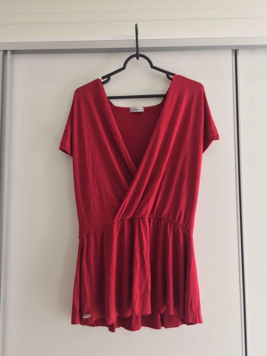 1fcda72613 blusa vermelha soltinha com decote v transpassado - blusas quintess
