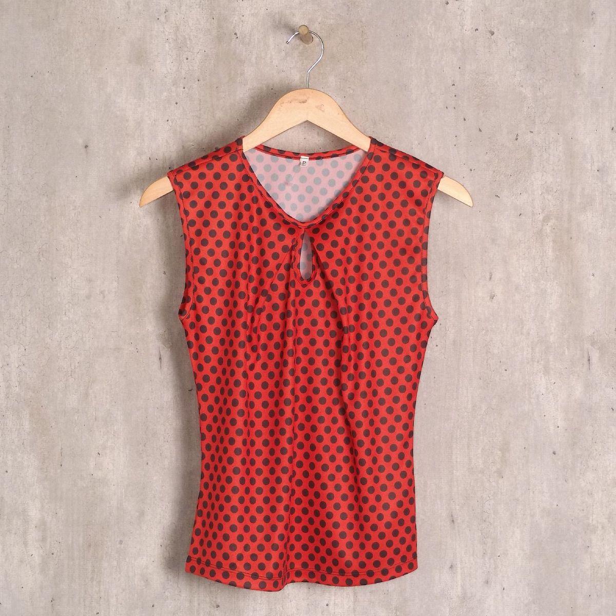 blusa vermelha soltinha póa - blusas sem marca