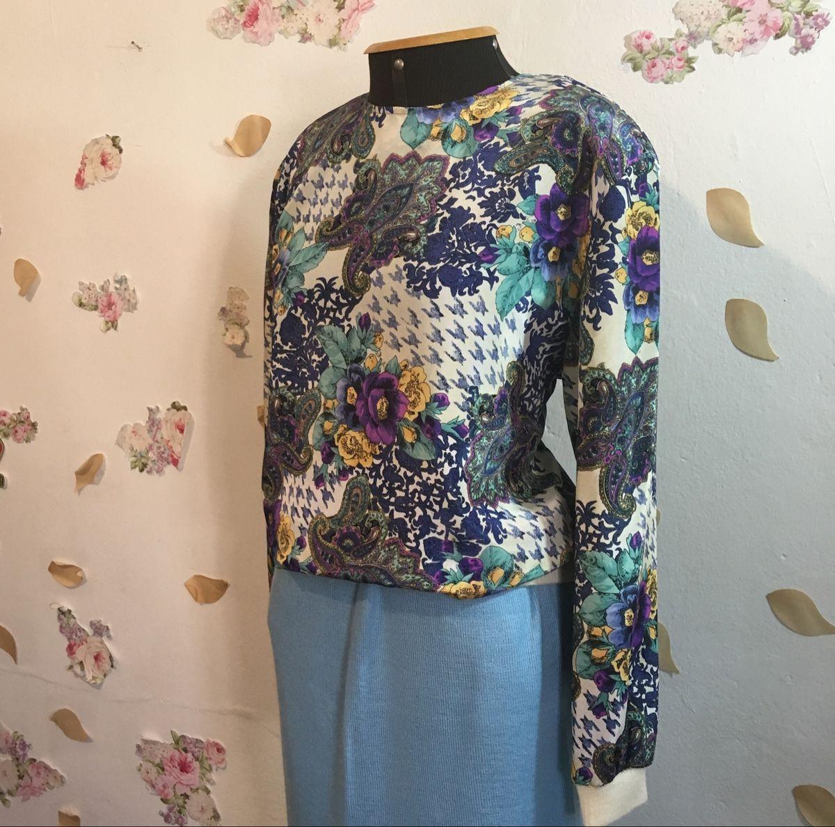 blusa vintage anos 80 - blusas sem marca
