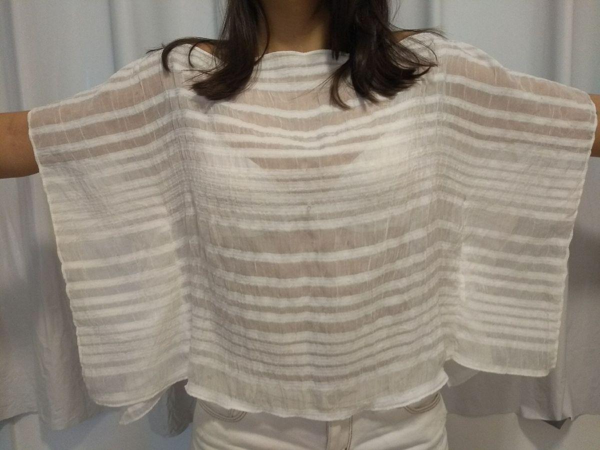 blusa voal trabalhado - blusas sem marca
