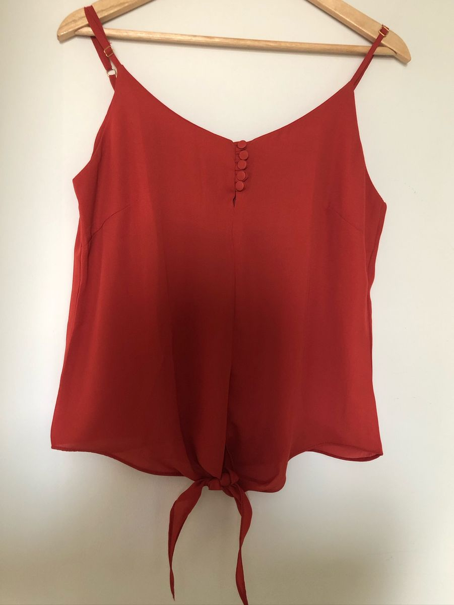 blusinha alcinha com nozinho na cintura - blusas gongi mano