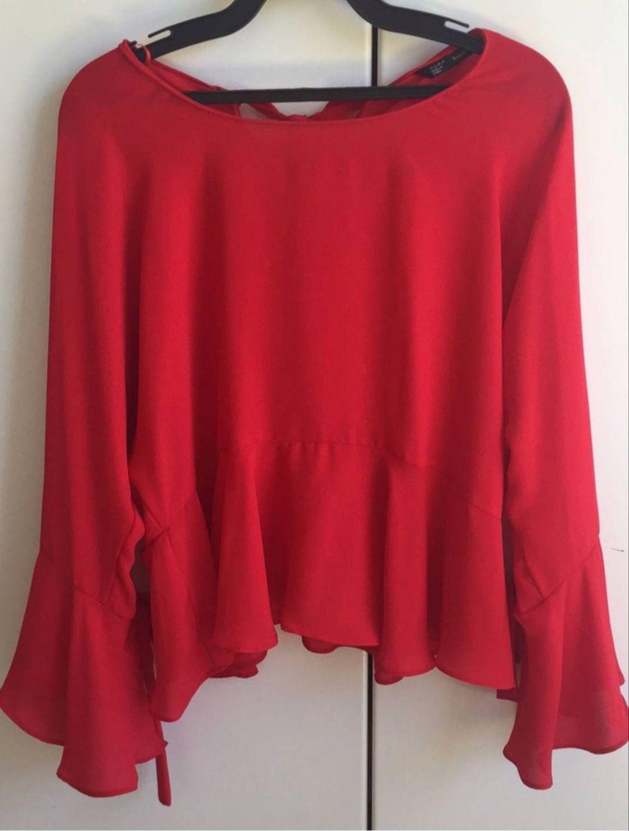 blusinha babado zara - camisetas zara