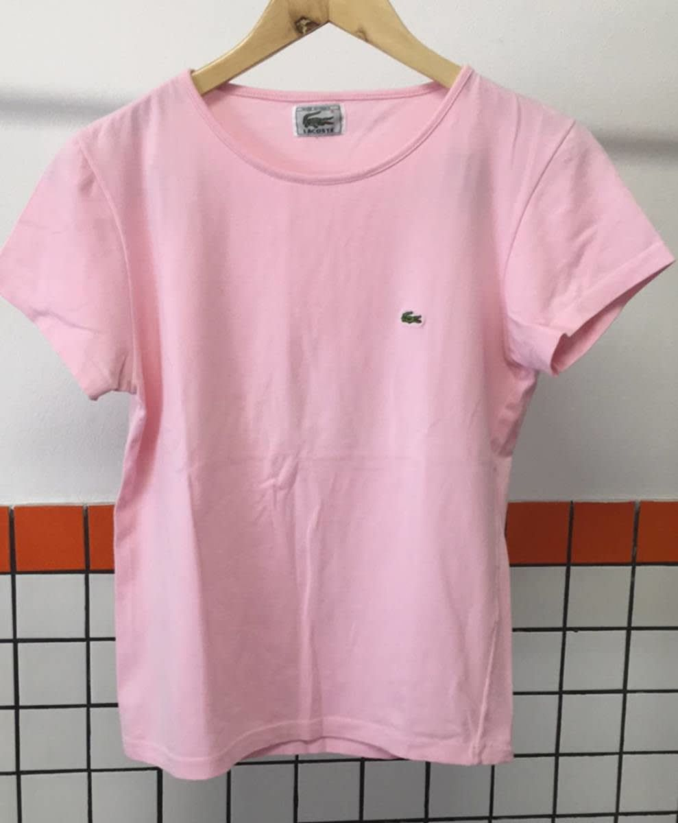 bd0be0a431a78 blusinha baby look lacoste rosa m - feminino b - blusas lacoste