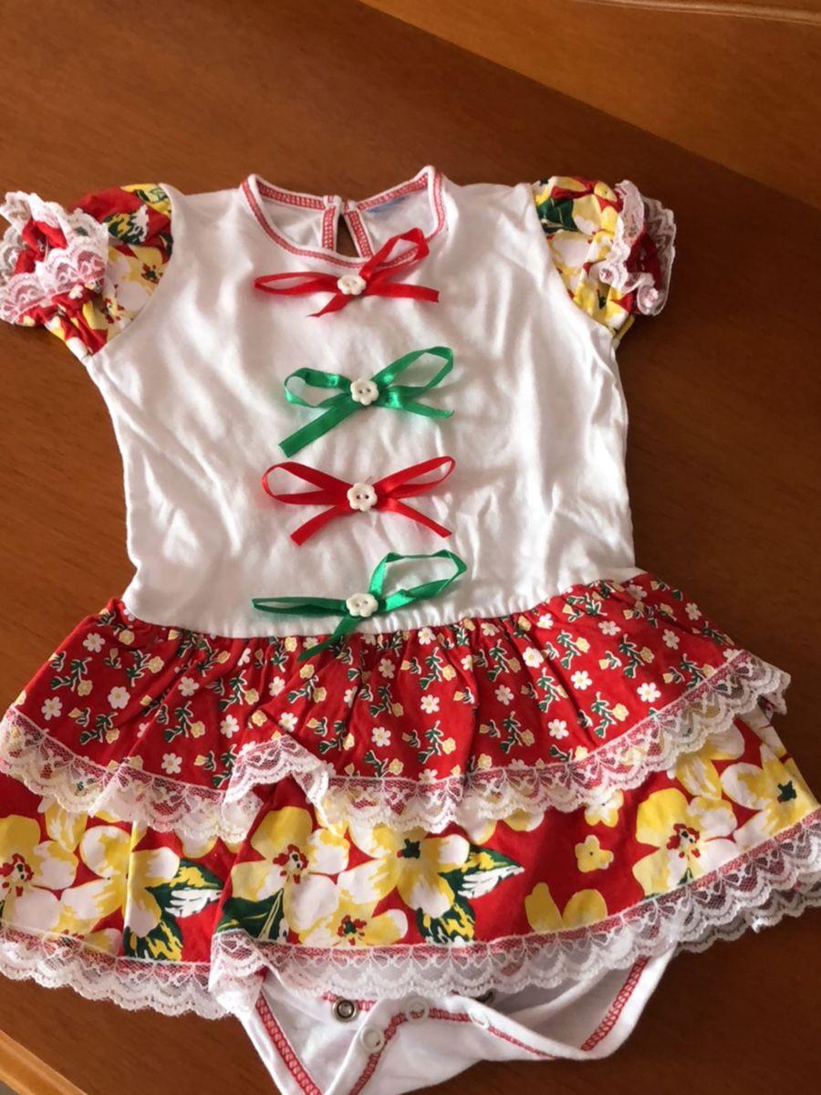 Body Festa Junina Roupa Infantil Para Bebê Tip Top Usado 26257343