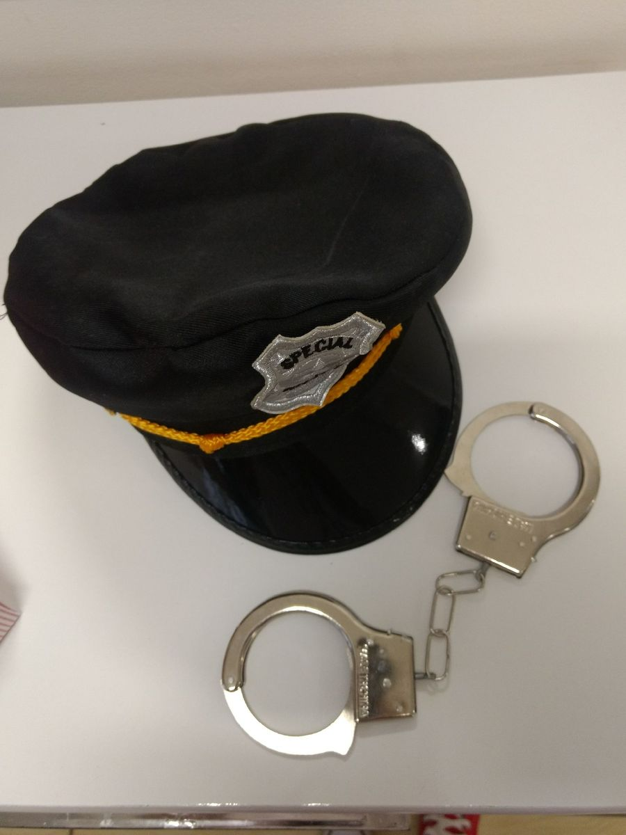 boina de policial - fantasia - outros sem marca.  Czm6ly9wag90b3muzw5qb2vplmnvbs5ici9wcm9kdwn0cy81mtu5ndi1l2mwmzk5otzindm1ymzjztlln2niodm1zwjhztqzngrmlmpwzw  ... 8b19143593d