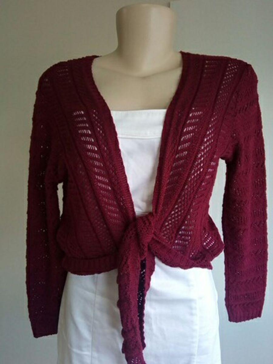 bolerinho em tricô - casaquinhos pink-e-co