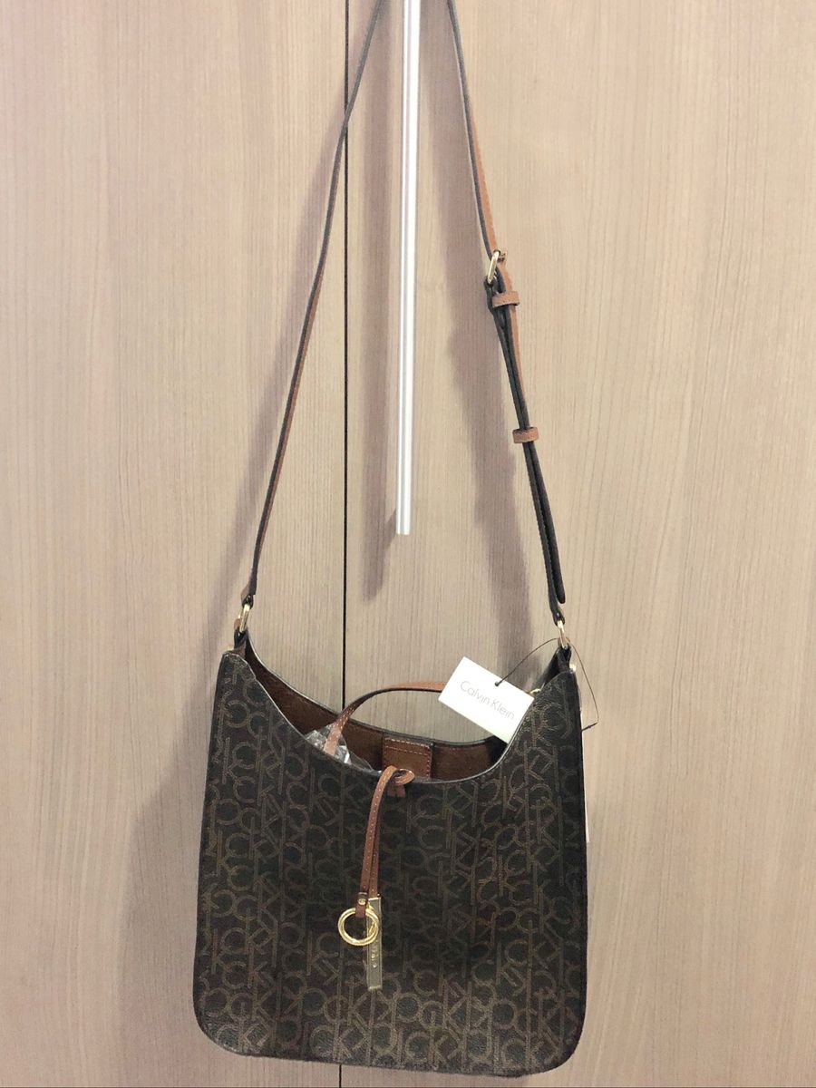 f90839d1c84d6 Bolsa Calvin Klein com Clutch Nova   Bolsa de Ombro Feminina Calvin ...