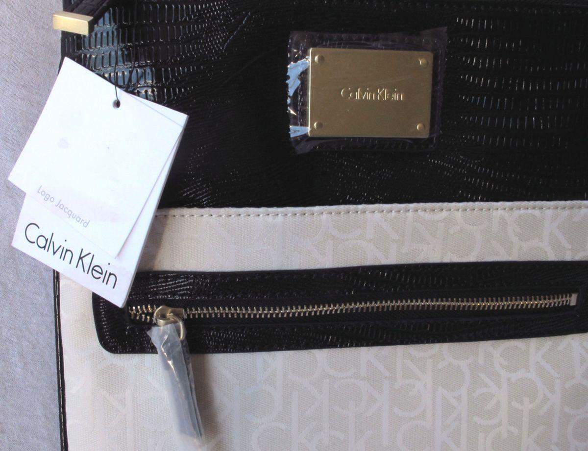 9081dec10540c Bolsa Calvin Klein Logo Jacquard Crossbody - Nova!   Bolsa de Ombro ...