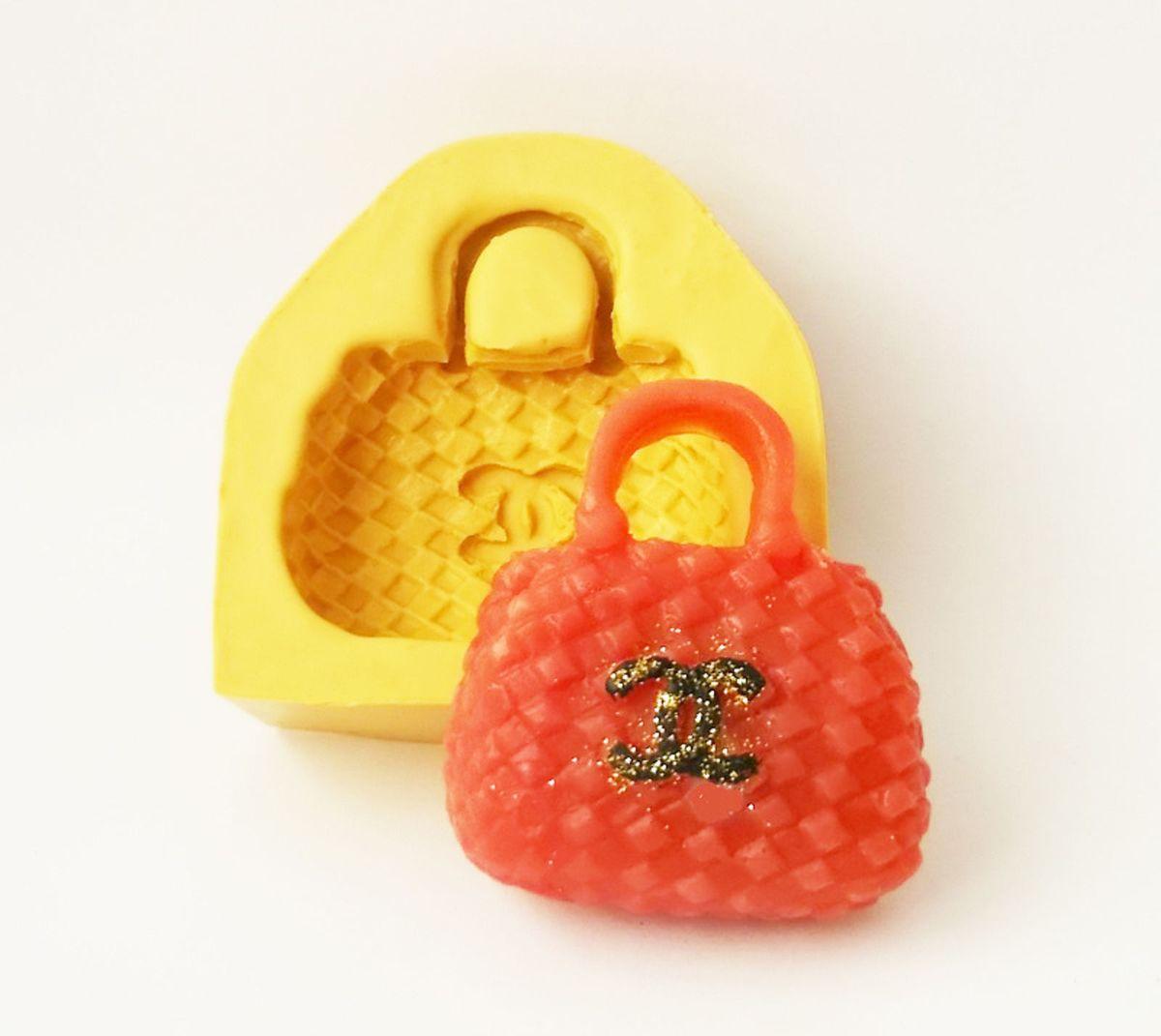 c04709521 bolsa chanel molde de silicone p sabonete vela biscuit resina - decoração  molde brasil