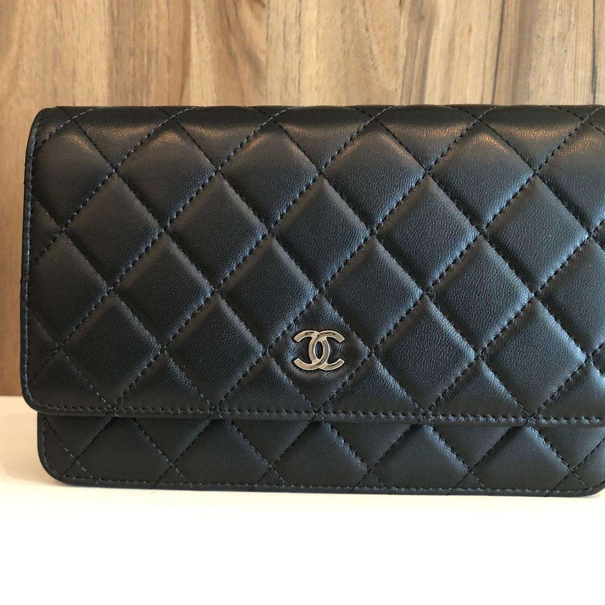 675a427e3 Bolsa Chanel Woc (wallet On Chain) em Lambskin Preto. | Bolsa de Ombro  Feminina Chanel Nunca Usado 31161400 | enjoei