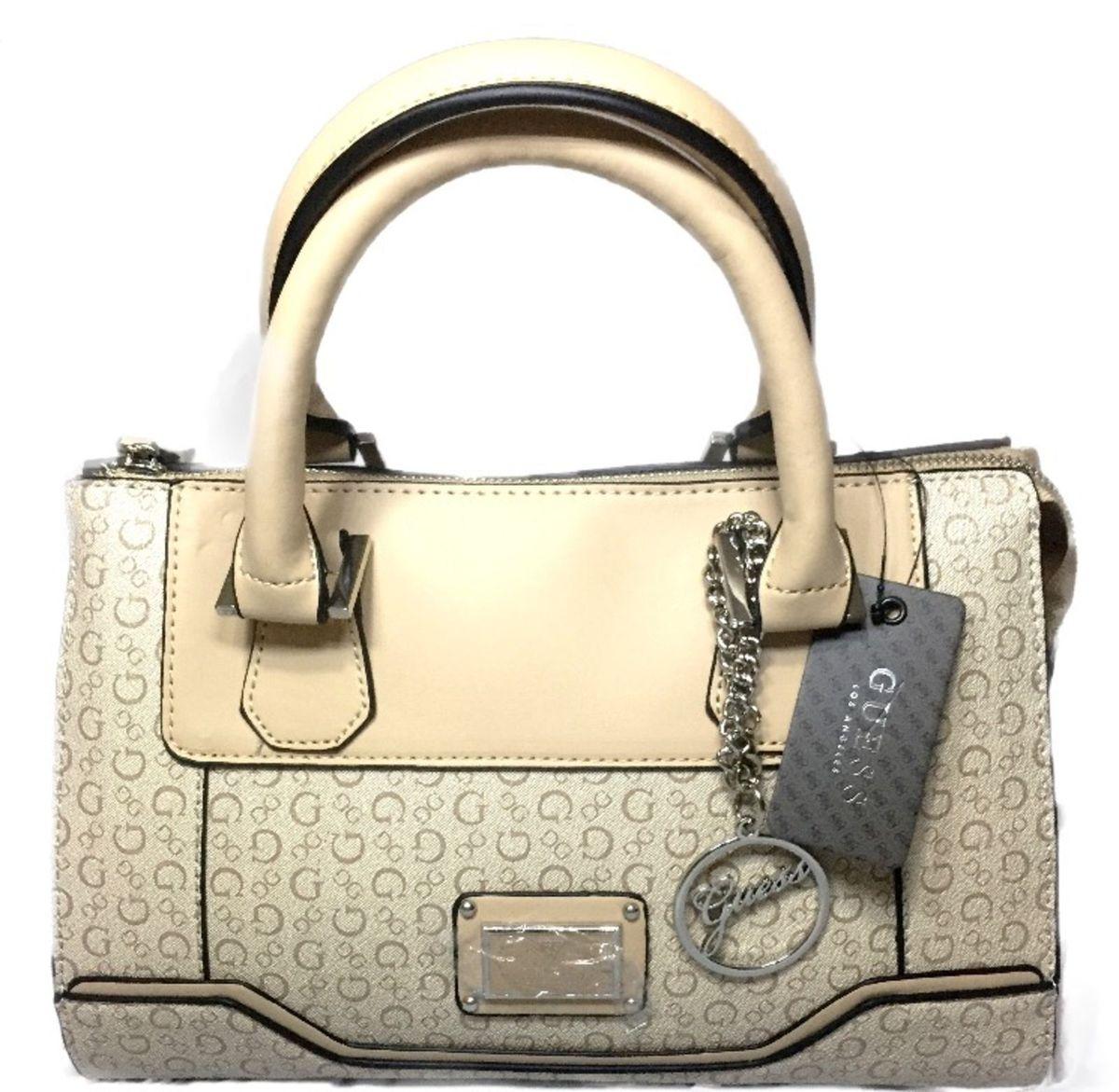 a47e25f8e Bolsa Couro Grife Guess Original Importada Linda | Bolsa de Ombro ...