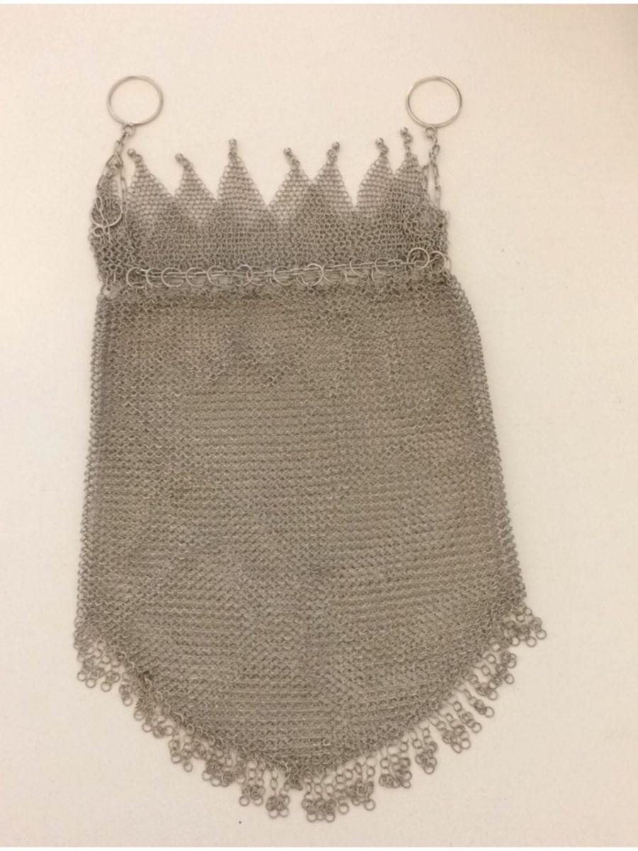 ff223acab Bolsa de Malha em Prata de Lei Anos 1940 | Bolsa de mão Feminina ...