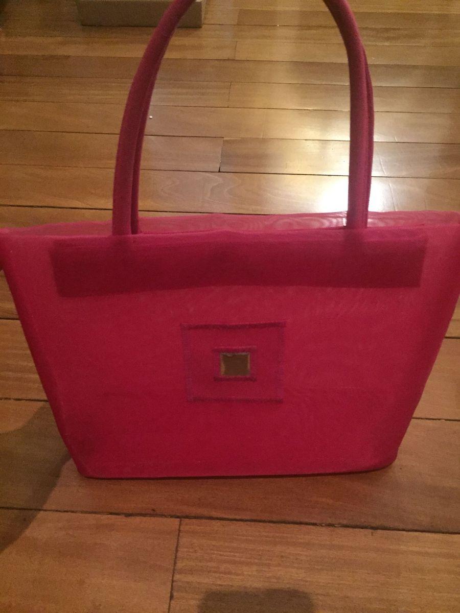 78269e205 bolsa de praia em nylon cor pink tamanho medio - ideal para praia e piscina  -