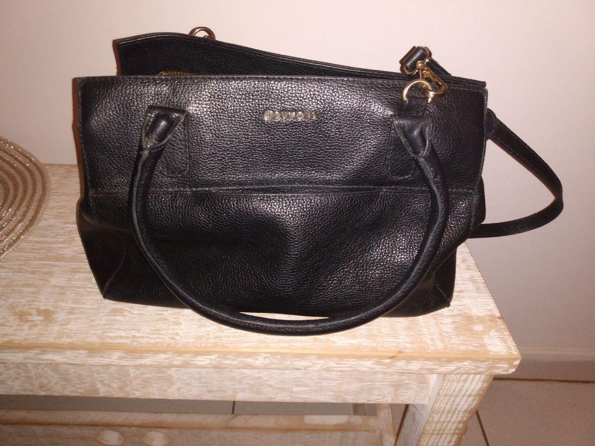 582fc05e2 Bolsa Dumond Preta Couro Legítimo | Bolsa de mão Feminina Dumond ...