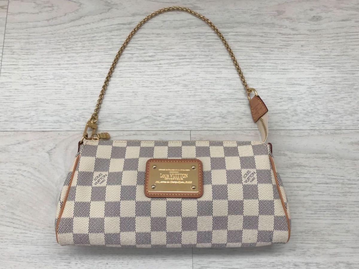 3e4fdbae5 Bolsa Eva Clutch Damier Azur Louis Vuitton | Clutch Feminina Louis ...
